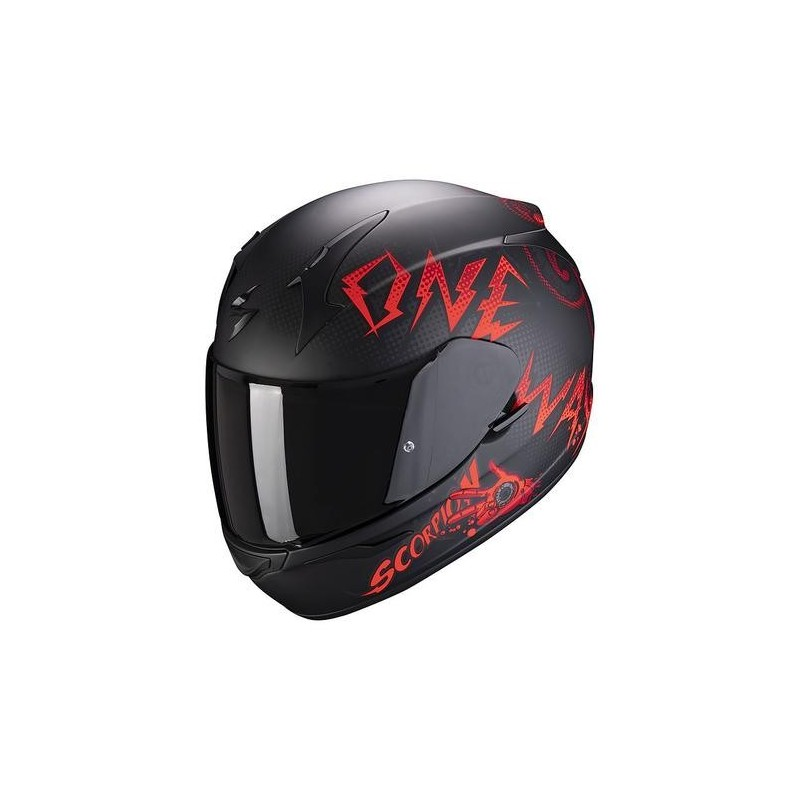 Casque intégral Scorpion EXO-390 ONEWAY Matt Black-Red